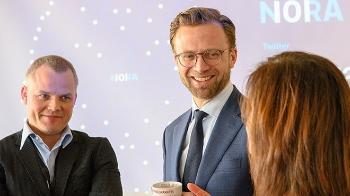 Picture of Klas H. Pettersen and Nikolai Astrup at NORA's kick-off